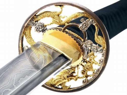 D001 Damast Schwert mit 4500 Schichten Stahl