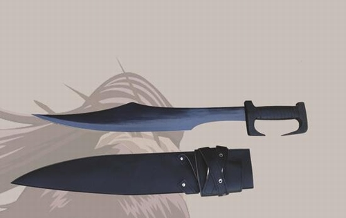 E103 Schaukampf 300 Film Schwert braun schwarz