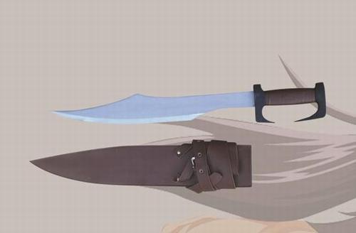 E104 Schaukampf 300 Film Schwert braun