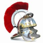 OV004 Draagbare Romeinse officier helm van carbon staal