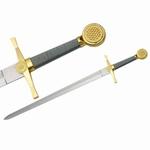E206 Mittelalter Gold Schwert